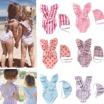 2 ~ 8Y maluch dziecko stroje kąpielowe dla dziewczyn one piece strój kąpielowy dla dziewczyn z kapeluszem strój kąpielowy dziecięcy dzieci odzież plażowa dziewczyny stroje kąpielowe suit-SW463 tanie i dobre opinie CN (pochodzenie) Poliester spandex Drukuj Jeden sztuk Pływać Pasuje prawda na wymiar weź swój normalny rozmiar SW463 mix Girls swimwear