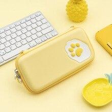 حقيبة تخزين ملونة من Cat Paw Switch ، حافظة سيليكون صلبة ، صندوق مقاوم للماء ، حافظة ألعاب NS Lite ، ملحقات Nintendo Switch