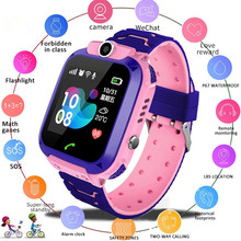 цена на New Anti-Lost Q12 Child Smart Watch Waterproof Safe LBS Positioning SIM Card Clock Call Location Tracker Camera Kids Smartwatch