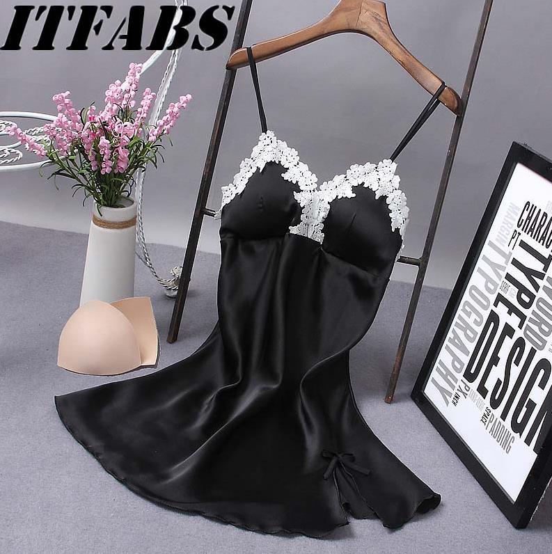 Sexy Women Lace Lingerie Ladies Solid Nightwear Underwear Robe Babydoll Sleepwear Dress S-XL