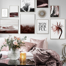 Wall Art Canvas Painting Flower Forest Mountain Abstract Girl Nordic Posters And Prints Landscape Pictures For Living Room