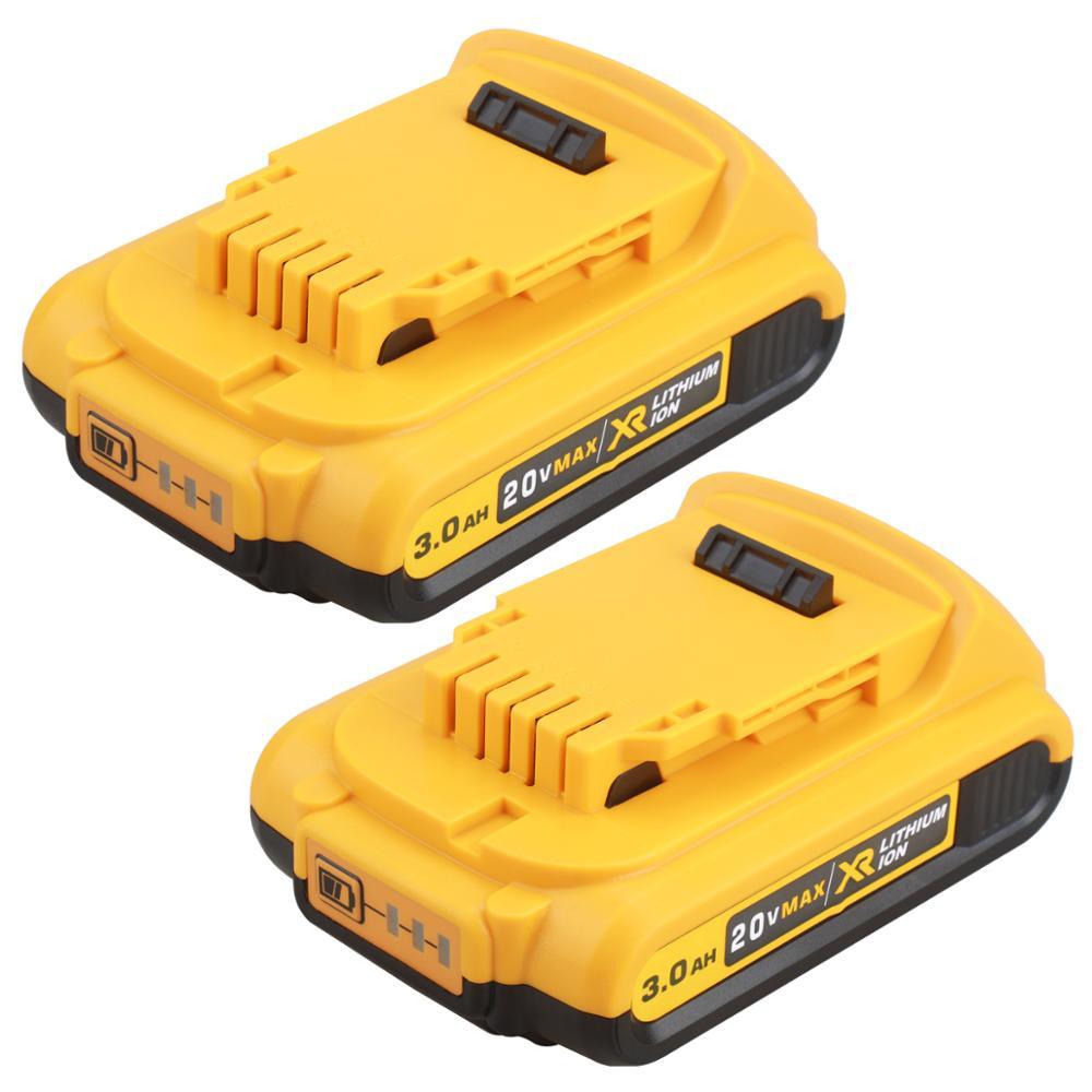 Литий-ионный аккумулятор для электроинструмента DEWALT DCB203 DCB181 DCB180 DCB200 DCB201 DCB201-2 L50, 20 в, 3000 мАч