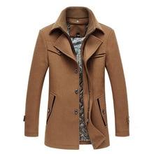 2020 Men Overcoats Male Peacoat winter Coat Men wo