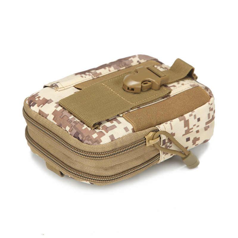 Tactique Molle poche taille sac étanche en Nylon multifonction décontracté hommes EDC sac à outils petit sac étui de téléphone portable sac de chasse