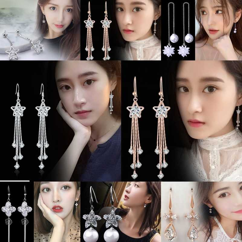 1pair Fashion Korean Unique Gold Color Round Imitation Pearls Bead Statement серьги женские Dangle Earring for Women Girls