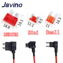 12V MINI SMALL MEDIUM Size Car Fuse Holder Add-a-circuit TAP Adapter with 10A Micro Mini Standard ATM Blade