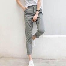 2020 женские деловые брюки карандаш узкие на молнии повседневные