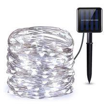 5 шт светодиодная наружная Солнечная лампа гирлянда 200 светодиодов