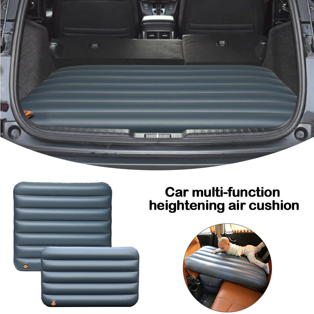 Car Inflatable Bed Back Seat Mattress Portable Travel Camping Air Bed Inflatable Sofa Cushion Car Travel Bed Heightening Pad