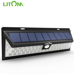 LITOM CD020 54 LED Night Light IP65 Waterproof Solar Lights Wide Angle LED Solar Powered Lamp Outdoor For Garden Wall Yard Patio