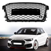 Black Car Front Bumper Grille Grill for Audi RS1 2015 2016 2017 2018 car accessories