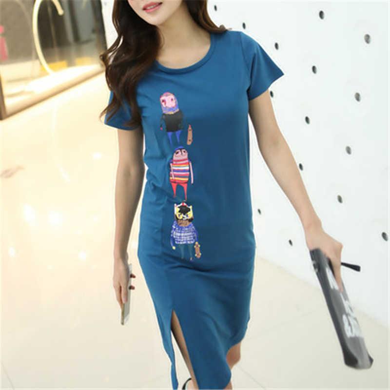 Femmes mode robes d'été bureau dames robe de travail femme longue vêtements décontractés vêtements d'impression créative LWL250