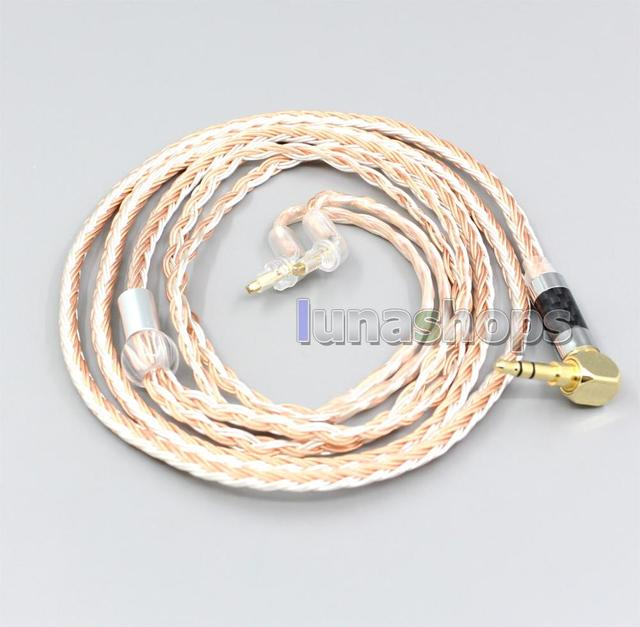 LN006703 2.5mm 4.4mm XLR 16 Core כסף מצופה OCC מעורב אוזניות כבל עבור Sony MDR EX1000 MDR EX600 MDR EX800 MDR 7550