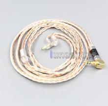 Ln006703 2.5mm 4.4mm xlr 16 núcleo banhado a prata occ misturado cabo do fone de ouvido para sony MDR EX1000 MDR EX600 MDR EX800 MDR 7550