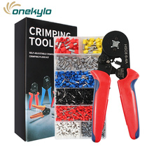 цена на Crimper 0.25-10mm2 Self-adjusting Crimping Pliers kit With 1200 Wire Terminal Crimp Connector Tubular terminal crimping tool