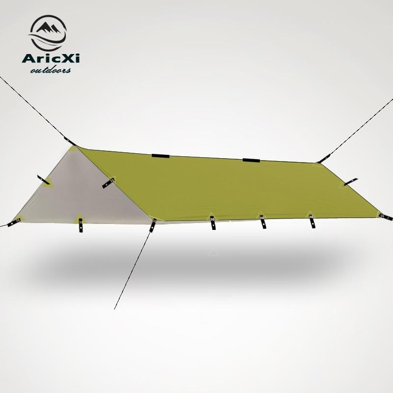Ultraleicht Plane Outdoor Camping Überleben Sun Shelter Schatten Markise Silber Beschichtung Pergola Wasserdicht Strand Zelt
