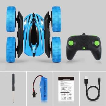 RC Cars Remote Control Car 2.4GHz Electric Race Stunt Car Double Sided 360 Rolling LED Headlights RC 4WD Off Road Vehicle Hot!