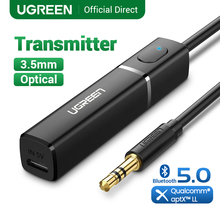 UGREEN Bluetooth Sender 5,0 Wireless Audio Musik APTX LL Niedrigen Latenz 3,5mm Aux Jack Digital Optical Für Kopfhörer Adapter