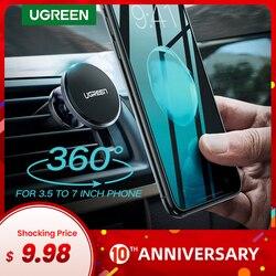 Ugreen suporte magnético do telefone do carro suporte de montagem do telefone celular suporte de suporte no carro smartphone ímã para o iphone x suporte móvel