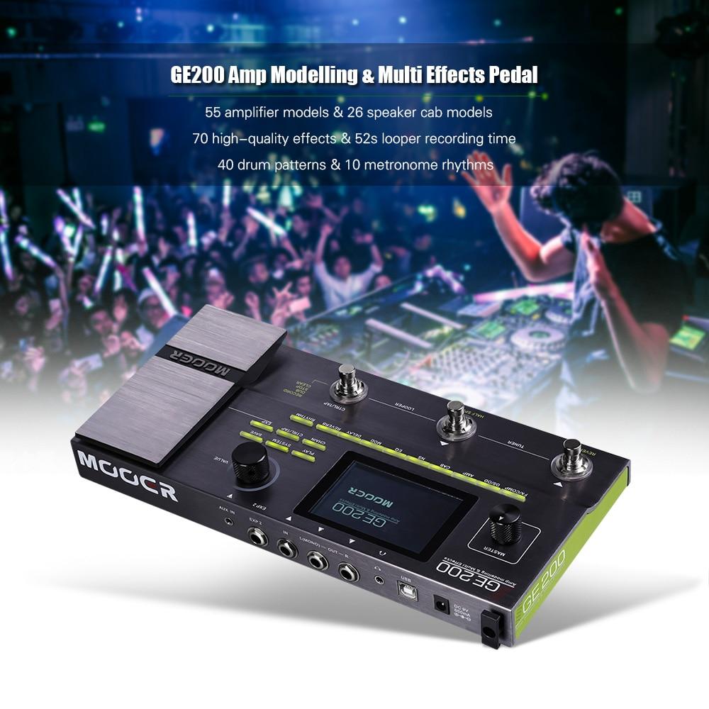 Mooer GE 200 Amp Modelling /& Multi-Effects Pedal