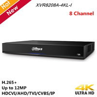 Dahua 4K 8 Channel XVR Recorder 4K 1U Digital Video Recorder Supports HDCVI AHD TVI CVBS IP Max 24 Face Pictures 2 HDMI