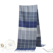 Winter Scarf Shawls Cashmere Wraps Foulard Warm Women Luxury Brand Man Casual Plaid Business