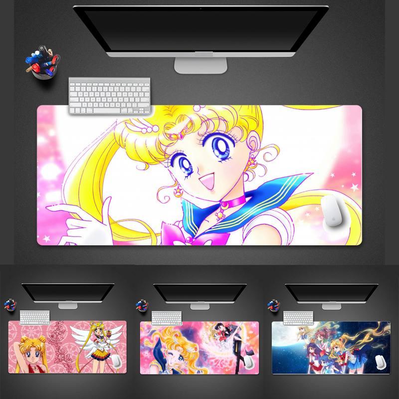 Sailor Moon Durable Rubber Mouse Mat Pad Keyboard Game Mouse Mat pad X XL XXL Non-slip Laptop Cushion