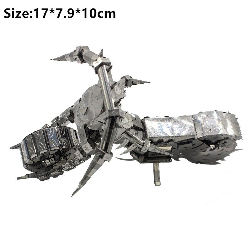 3D Metal Puzzle Model Kit DIY Stainless Steel Starship DOCTOR WHO TARDIS Animal Ship Adult Jigsaw DIY Jigsaw Manual Gift Toys 17