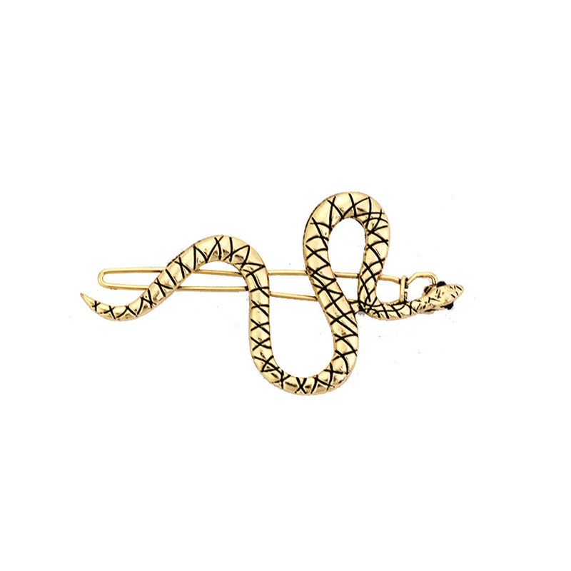 Punk Simple Hairpins Snake Animals Gold Metal Hairclips For Cool Women Girl Hair Accessories Barrettes in Women 39 s Hair Accessories from Apparel Accessories