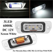 цена на Car Led Light 2pcs Xenon White LED License Plate Light For Mercedes-Benz AMG ML GL R Class W164 W251 Clearance Sale Items