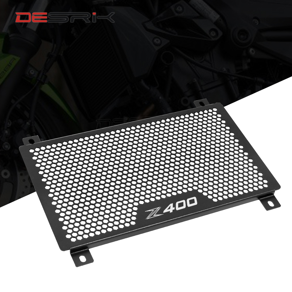 Radiator Guard Cover for Kawasaki Ninja400 Z400 2018 2019 Black