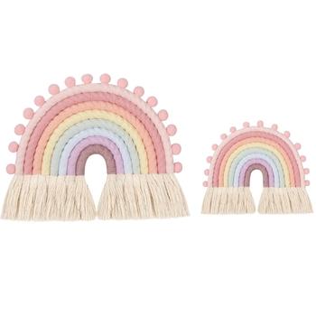 8 linii tęczowy gobelin ścienny wiszący salon pokój dziecięcy dekoracja Home Decor tanie i dobre opinie NoEnName_Null CN (pochodzenie) Vine Fix Clip app 1 5cmx1 3cm 0 59inx0 51in 60 Pcs 1 Set