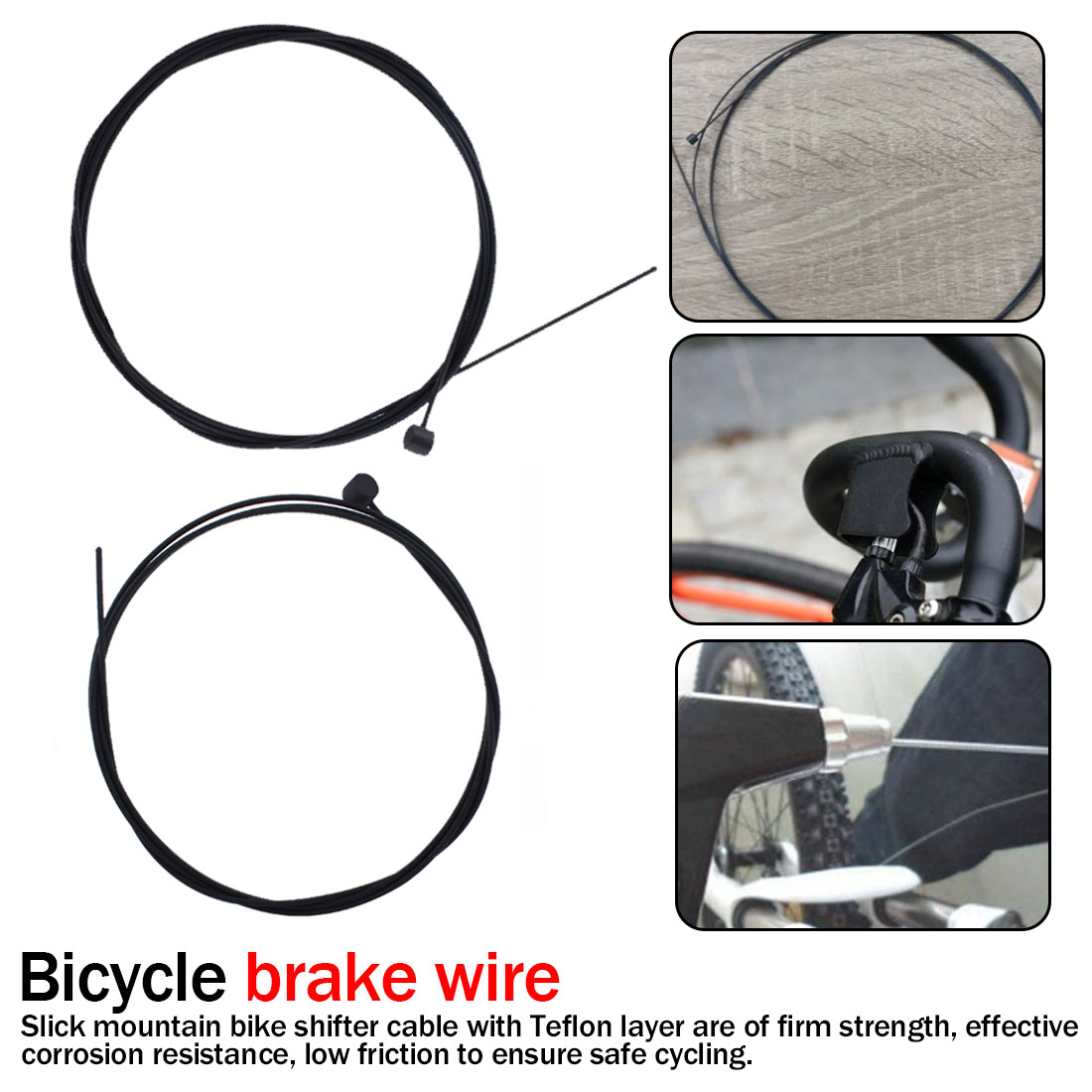 2pcs bicycle Shift Cable Teflon Coated MTB RD bike Front Rear Derailleur  wire