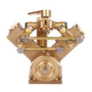 Image 2 - 8.5 × 8.2 × 7.4 センチメートル v 字型ミニ純銅蒸気エンジンモデルなしボイラークリエイティブギフトセットキッズ大人のための高品質