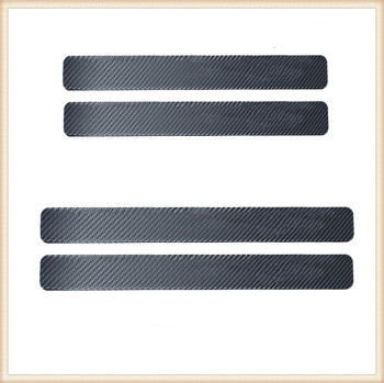 4PCS Car Styling Stickers Scuff Anti Scratch Carbon Fiber for BMW Z3 M3 Convertible Mini 318ic 318ti 2002 - 2009 image