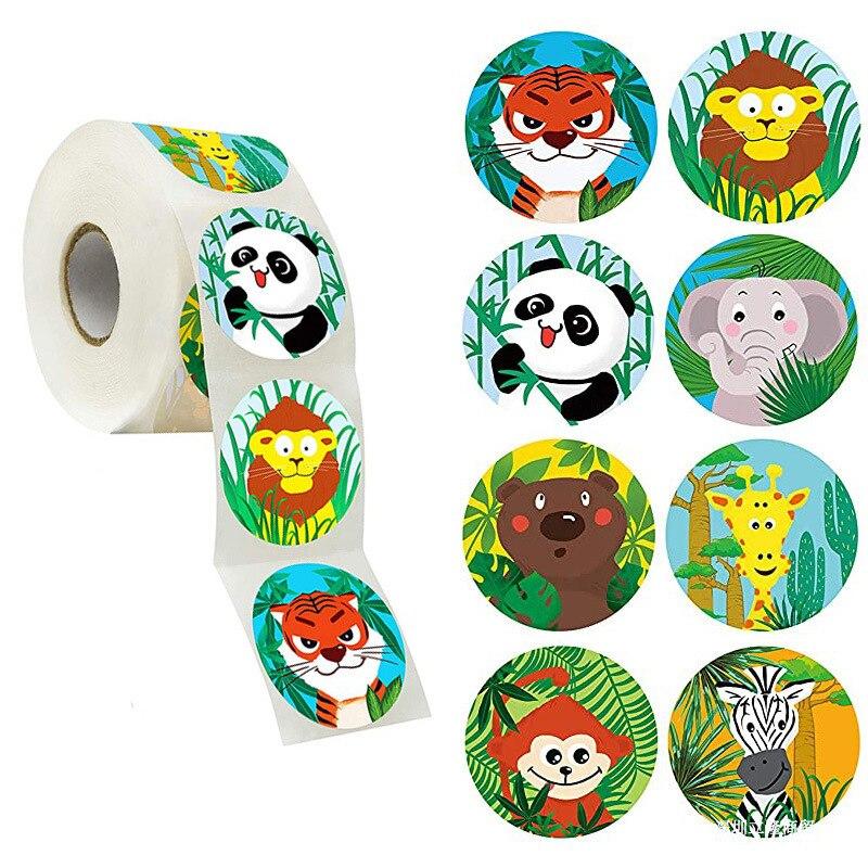 50 pces/wad animais dos desenhos animados adesivos para crianças brinquedos clássicos adesivo professor escolar recompensa adesivo vários estilos projetos padrão