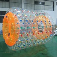 2.8m Giant Inflatable Toys for Children Adults PVC Water Wheel Walking Fun Roller Ball Outdoor Water Park Pool Sports Game