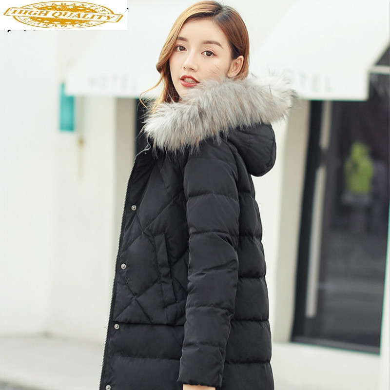 White Duck Down Jacket Women Winter Coat Women Down Coat Hooded Puffer Jacket Warm Parka Veste Femme G1180081 YY1450