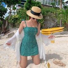 One-Piece Swimsuit Monokini Beach-Wear Push-Up Sexy Women Summer Dot Dotted