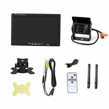 Waterproof Parking System Bus 7 LCD Monitor Metal Truck Durable Reversing Camera Rear View Wireless Car Easy Install Universal цена