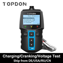 TOPDON BT100 testeur de batterie de voiture chargeur analyseur 12V 2000CCA tension batterie Test testeur de batterie de voiture charge Cricut outils de charge