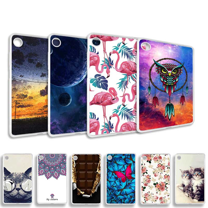 Painted Tablet Case For Lenovo Tab M7 TB-7305F TB-7305X TB-7305I Case Coque Soft Silicone TPU Cartoon Pattern Tablet Cover Funda