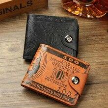 Высококачественный брендовый кожаный мужской кошелек, модный кошелек по цене доллара, повседневный клатч, кошелек для денег, сумка, кредитный держатель для карт