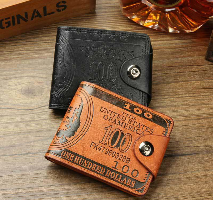 High Quality Brand Leather Men Wallet 2019 Fashion Dollar Price Wallet Casual Clutch Money Purse Bag Credit Card Holder