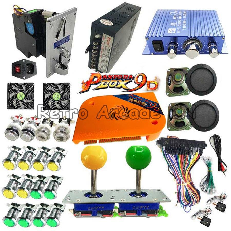 Pandora box 9D 2226 en 1 arcade version bouton-poussoir LED kit de bricolage pour arcade armoire support 3P 4P jeu usb Gamepad 3D jeux
