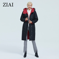 ZIAI 2020 Winter Jacket Women Hood Zipper Plus Size parka Long Warm and Thick female coat fashion top brand hotsale stock AT6703