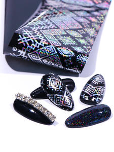 Sticker Nail-Foil Snowflake Holographic Butterfly Wraps-Tips Adhesive Manicure-Decoration