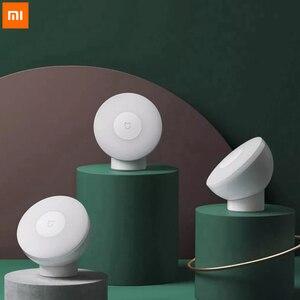 Image 2 - Original Xiaomi Mijia Führte Induktion Nacht Licht 2 Lampe Einstellbare Helligkeit Infrarot Smart Menschlichen körper sensor mit Magnetische basis