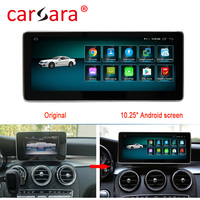 4+64G 10.25 Android monitor for Benz C Class W205 S205 C205 GLC Class X253 2015 2017 touch screen Navigation multimedia player