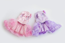 Spring New Summer New Dog Outfit Spring Summer Pet Outfit Rose Skirt Wedding Dress Wedding Dress Dog Outfit Winter Pet Outfit